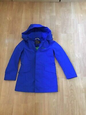 Woolrich Kids Blue Mac With Removable Hood Age 8 Yrs Barley Worn Great Condition