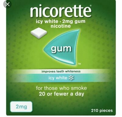Nicorette Icy White 2Mg 210 Pieces Chewing Gum