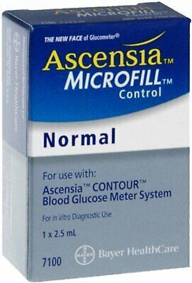 Ascensia Microfill Blood Glucose Control Solution, Normal - 2.50 Ml (Pack Of 3)