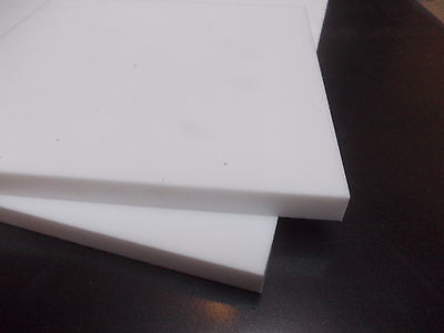 """12 mm PTFE sheet 200 mm (7.87"""") x 100 mm (3.93"""") high temperature-low friction"""