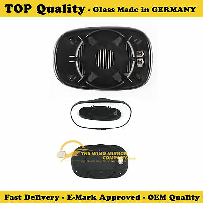 Ford Street Ka Convertible 1996-3//2009 Heated Convex Mirror Glass Drivers Side