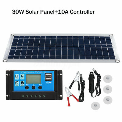 30W 18V Flexible Solar Panel for 12V Battery RV Car Boat Caravan Camping Charge