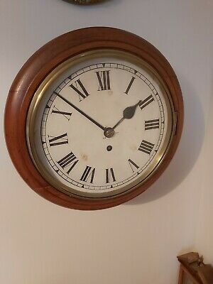 Antique 10inch Dial Fusee Wall clock in Mahogany case.