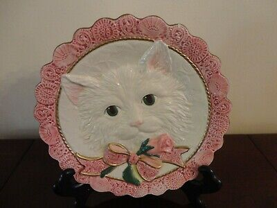 FITZ AND FLOYD ESSENTIALS VINTAGE Victorian Valentine CAT CANAPÉ COOKIE PLATE