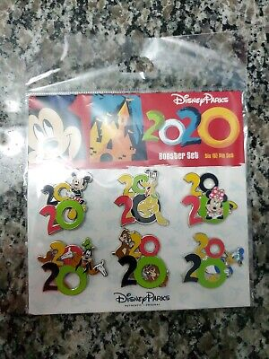 2020 Booster Mickey Minnie Goofy Donald Pluto Chip & Dale Fab 5 Disney 6 Pin Set