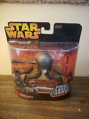 2005 Hasbro Star Wars Revenge Of The Sith Spider Droid Firing Laser Cannon ROTS