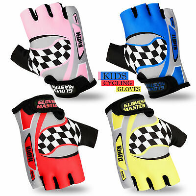 Top Quality Kids Cycling Gloves Girls Boys Scooter Mitts Children Bike