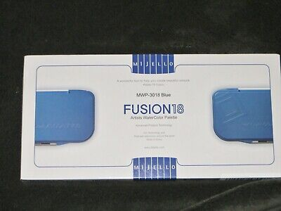 Mijello Fusion Leakproof//Airtight Watercolor Palette 18 Well MWP-3018 Blue추