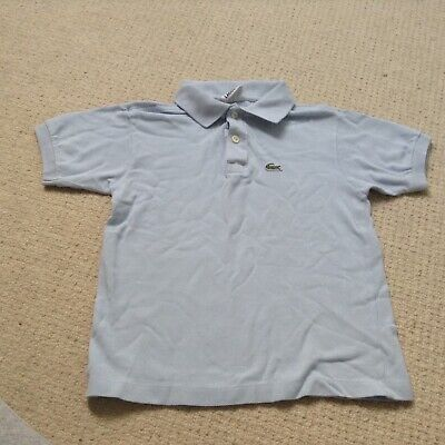 boys designer Lacoste pale blue polo shirt t shirt top size 8 years
