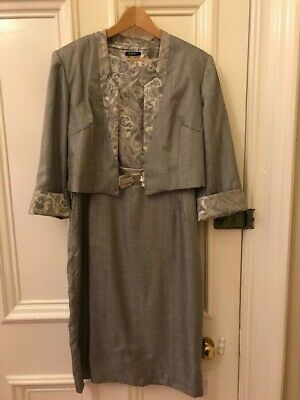 Roman Size 14 Dress and Jacket, Silver / Grey, Wedding / Occasion, Ex Condition