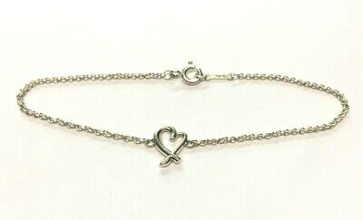 "Authentic Tiffany & Co Paloma Picasso Loving Heart 7"" Bracelet"