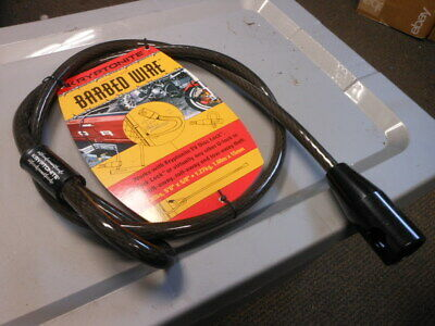 """NOS Kryptonite Barbed Wire Heavy Duty Motorcycle 5/8"""" Security Cable 5'6"""" Long"""