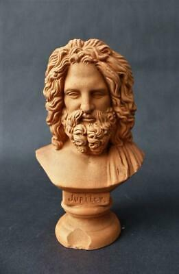 Antique Terracotta Bust Of Jupiter
