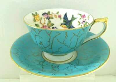 """YI. Vtg """"Aynsley"""" Bone China Tea Cup and Saucer Made in England."""