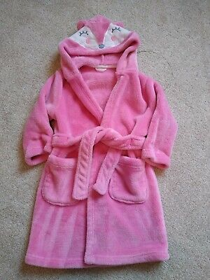 Girls Pink Dressing Gown - 2-4 Years Mothercare