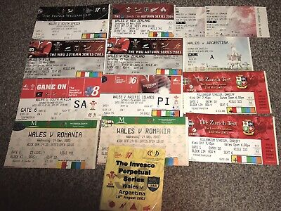Job Lot Collection Wales Rugby Used Tickets