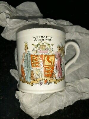 King Edward VII 1902 Coronation Mug Foley china manufactured for Harrods London