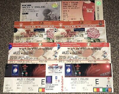 Joblot Collection Used Wales V England Rugby Tickets