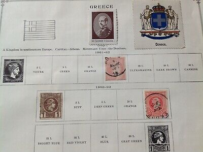 GREECE. DIFFERENT GREEK STAMPS old 1800's-early 1900's