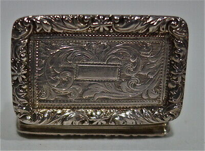 Joseph Willmore Antique Sterling Vinegarette/Snuff Box 1840