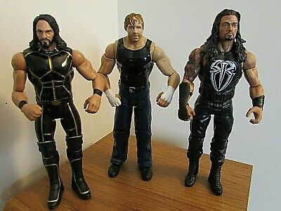 Wwe Seth Rollins, Dean Ambrose & Roman Reigns Talking Wrestling Figure Bundle