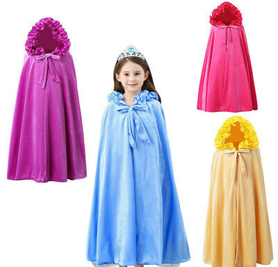 Princess Cosplay Party Fancy Dress Up Costume Hooded Cape Cloak queen Beauty