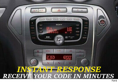 FORD SONY 6000 DAB RADIO UNLOCK CODE ONLY 99 p