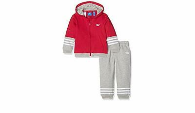 Adidas infant girls fleece tracksuit age 9-12 months