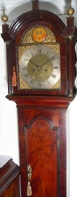 "Antique Mahogany Automation Moving Eyes"" Ridyway "" Longcase / Grandfather Clock"