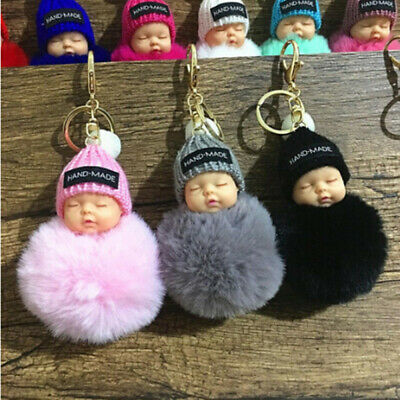 Sleeping Baby Doll Keychain Cute Gift Pendant Hanging Decor for Bedroom Home