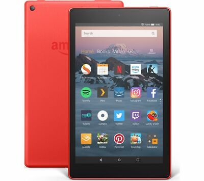 AMAZON Fire HD 8 Tablet (2018) - 32 GB, Red - Currys