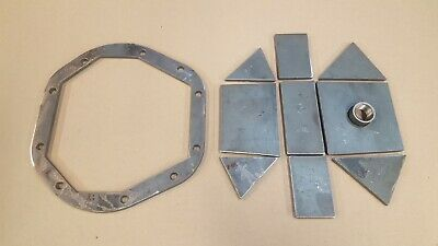 "DIY Heavy Duty Dana 44 Differential Cover Kit Weld it Yourself 1/4"" Steel"