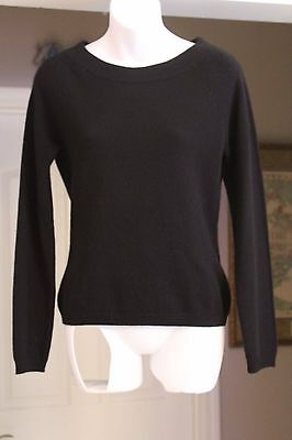 Free Shipping! Investments Cashmere Long Slv Black Sweater Sz Xs - Bust 34 - Nwt