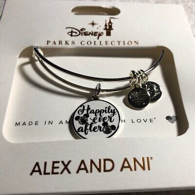 Disney Parks Alex And Ani Happily Ever After Silver Bracelet
