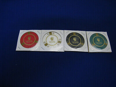 Caesars Palace Casino Chips/Tokens - 4 Different