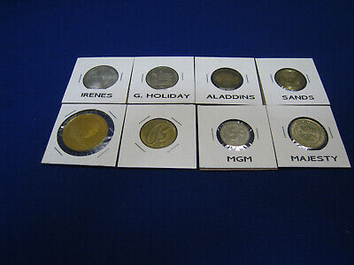 Casino Chips/Tokens - Metal - 8 Different