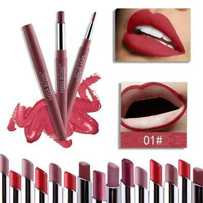 MISS ROSE Dual Pencil Lipstick Pen Matte Lip Liner LongLasting Waterproof Makeup