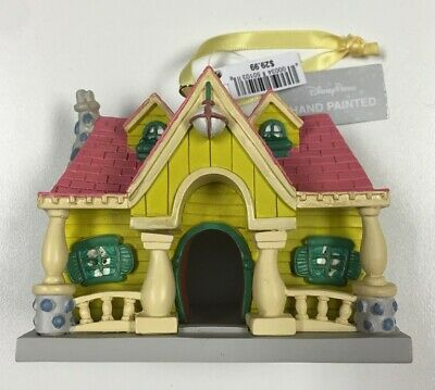 2019 Disney Parks Mickey Mouse House Hand Painted Holiday Christmas Ornament