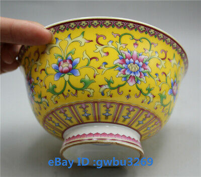 Chinese  porcelain hand-painted Flower pattern bowl w Qianlong Mark