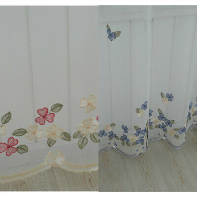 Tulle Curtains Embroidered Butterfly Drapes Bedroom Living Room Window Treatment