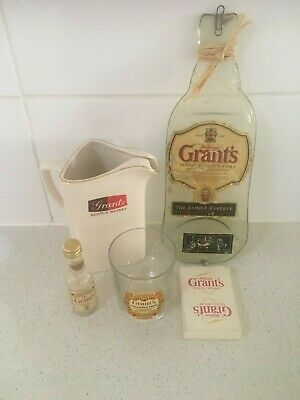 Grants scotch whisky collectables jug&glass cards