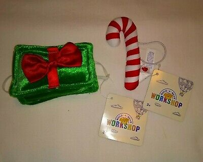 Build A Bear Present Gift Card Christmas Candy Cane Accessory Lot