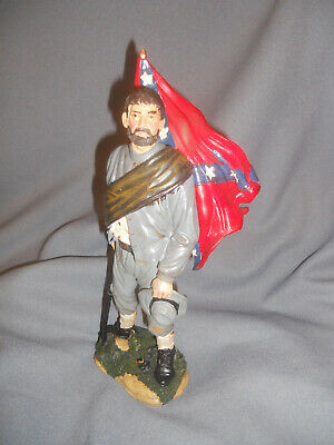 "11""  Civil War Confederate Soldiers Ceramic from a Gettysburg PA souvenir shop"