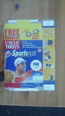 Uncle Tobys Sports Plus Cereal Box Sydney Olympic Games Grant Hackett