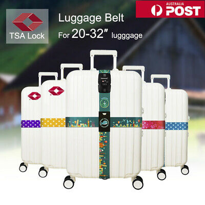 Adjustable TSA Password Luggage Strap Cross Packing Belt Safe Code-lock Buckle