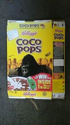 Kong 8th Wonder of the World Empty  Kellogs  Coco Pops Cereal Box Complete