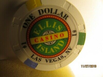 Ellis Island Casino- Las Vegas, NV.- $1 Casino Chip- mint