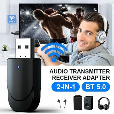 Bluetooth 5.0 Receiver Transmitter Audio Adapter 3.5mm AUX For TV Headphone PC