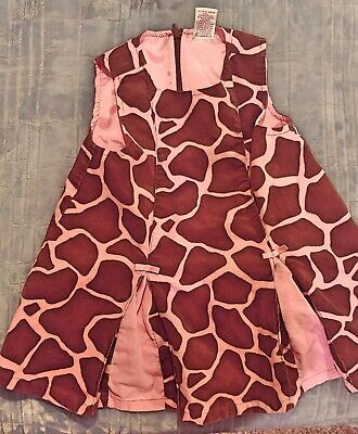 Baby Girls 12-18 Months Toddler Gymboree Giraffe Print Pink & Brown Dress