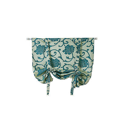 Modern Flower Print Window Roman Curtains Cafe Polyester Door Valance Home Decor